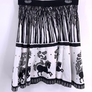 Once Upon A Time for Topshop RARE Horse Skirt Midi